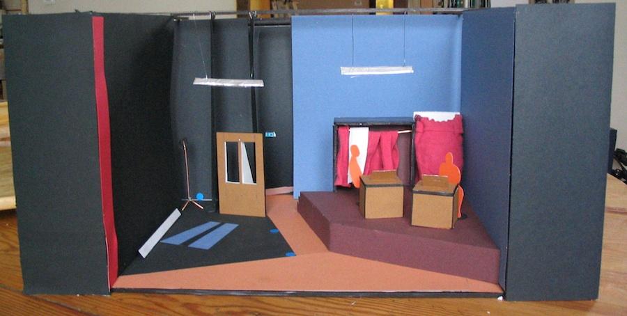 maquette Mamet Une vie de théâtre- théâtre lumière