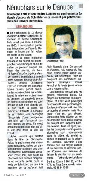 article la Ronde- théâtre lumière