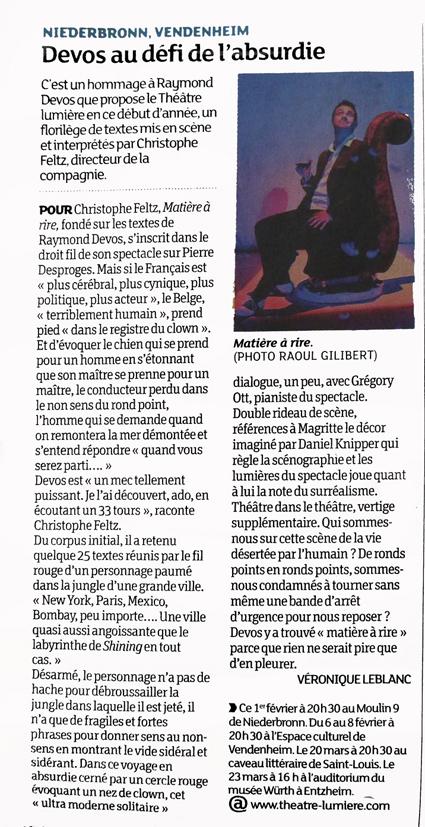 2014_Theatre Lumiere_Matiere a rire_presse- théâtre lumière