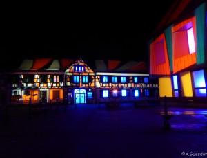 Pluie de lumière pour une nuit en couleur